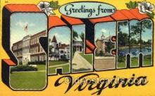 LLT001315 - Greetings From Salem, Virginia, USA Large Letter Town Towns Postcard Postcards