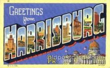 LLT001318 - Greetings From Harrisburg, PA. USA Large Letter Town Towns Postcard Postcards