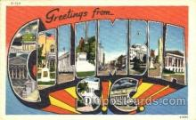 LLT001327 - Greetings From Columbia, South Carolina, USA Large Letter Town Towns Postcard Postcards