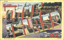 LLT001335 - Greetings From Long Island, New York, USA Large Letter Town Towns Postcard Postcards
