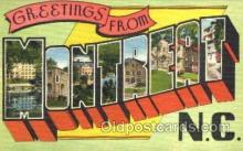 LLT001339 - Greetings From Montreat, North Carolina, USA Large Letter Town Towns Postcard Postcards