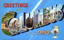 LLT001344 - Greetings From Columbus, Ohio, USA Large Letter Town Towns Postcard Postcards