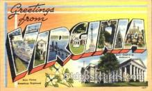 LLT001348 - Greetings From Virginia,  USA Large Letter Town Towns Postcard Postcards
