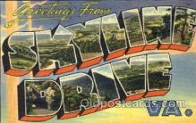 LLT001350 - Greetings From Skyline Drive, Virginia, USA Large Letter Town Towns Postcard Postcards