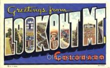 LLT001369 - Greetings From Lookout Mt. Colorado, USA Large Letter Town Towns Postcard Postcards