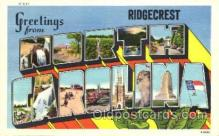 LLT001378 - Greetings From Ridgecrest, North Carolina, USA Large Letter Town Towns Postcard Postcards