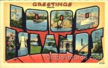 LLT001384 - Greetings From 1000 Islands Large Letter Town Towns Postcard Postcards