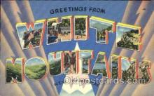 LLT001385 - Greetings From White Mountains, New Hampshire, USA Large Letter Town Towns Postcard Postcards