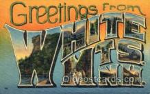 LLT001386 - Greetings From White Mountains, New Hampshire, USA Large Letter Town Towns Postcard Postcards