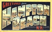 LLT001387 - Greetings From Hampton Beach New Hampshire, USA Large Letter Town Towns Postcard Postcards