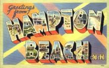 LLT001388 - Greetings From Hampton Beach New Hampshire, USA Large Letter Town Towns Postcard Postcards