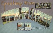 LLT001389 - Greetings From Lake Winnipesaukee, New Hampshire, USA Large Letter Town Towns Postcard Postcards