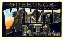 LLT001390 - Greetings From White Mountains, New Hampshire, USA Large Letter Town Towns Postcard Postcards