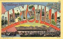 LLT001402 - Greetings From Marysville, California, USA Large Letter Town Towns Postcard Postcards