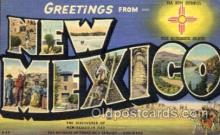 LLT001413 - Greetings From New Mexico, USA Large Letter Town Towns Postcard Postcards