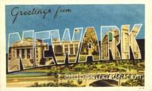 LLT001423 - Greetings From Newark, New Jersey, USA Large Letter Town Towns Postcard Postcards