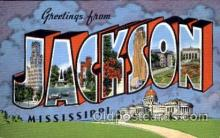 LLT001429 - Greetings From Jackson, Mississippi, USA Large Letter Town Towns Postcard Postcards