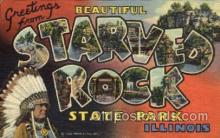 LLT001433 - Greetings From Starved Rock, State Park, Illinois, USA Large Letter Town Towns Postcard Postcards