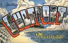 LLT001435 - Greetings From Gulfport, Mississippi, USA Large Letter Town Towns Postcard Postcards