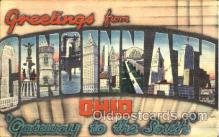 LLT001440 - Greetings From Cincinnati, Ohio, USA Large Letter Town Towns Postcard Postcards