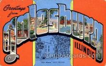 LLT001448 - Greetings From Galesburg, Illinois, USA Large Letter Town Towns Postcard Postcards