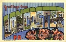 LLT001452 - Greetings From Lancaster, PA, USA Large Letter Town Towns Postcard Postcards