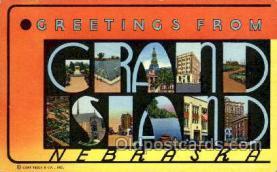 LLT001453 - Greetings From Grand Island Nebraska, USA Large Letter Town Towns Postcard Postcards