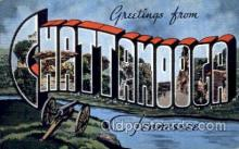 LLT001457 - Greetings From Chattanooga, Tennessee. USA Large Letter Town Towns Postcard Postcards
