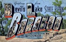 LLT001459 - Greetings From Baraboo, Wisconsin, USA Large Letter Town Towns Postcard Postcards