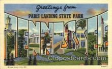 LLT001465 - Greetings From Paris Landing State Park Tennessee, USA Large Letter Town Towns Postcard Postcards