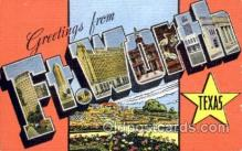 LLT001471 - Greetings From Ft. Worth, Texas, USA Large Letter Town Towns Postcard Postcards