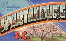 LLT001472 - Greetings From Spartanburg, S.C. USA Large Letter Town Towns Postcard Postcards