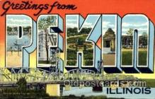 LLT001473 - Greetings From Pekin, Illinois, USA Large Letter Town Towns Postcard Postcards