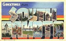 LLT001475 - Greetings From South Dakota, USA Large Letter Town Towns Postcard Postcards