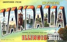 LLT001476 - Greetings From Wandalia, Illinois, USA Large Letter Town Towns Postcard Postcards