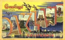 LLT001477 - Greetings From Oakland, California, USA Large Letter Town Towns Postcard Postcards