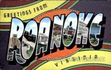 LLT001479 - Greetings From Roanoke, Virginia, USA Large Letter Town Towns Postcard Postcards