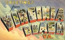 LLT001484 - Greetings From Virginia Beach VA. USA Large Letter Town Towns Postcard Postcards