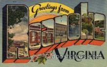LLT001486 - Greetings From Roanoke, Virginia, USA Large Letter Town Towns Postcard Postcards