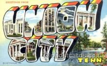 LLT001491 - Greetings From Union City, Tenn. USA Large Letter Town Towns Postcard Postcards