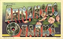 LLT001492 - Greetings From Arkansas Ozarks, USA Large Letter Town Towns Postcard Postcards