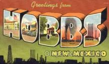 LLT001495 - Greetings From Hobbs, New Mexico, USA Large Letter Town Towns Postcard Postcards