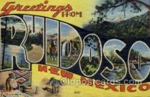 LLT001496 - Greetings From Ruidoso, New Mexico, USA Large Letter Town Towns Postcard Postcards