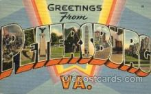 LLT001497 - Greetings From Petersburg, VA. USA Large Letter Town Towns Postcard Postcards