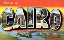 LLT001514 - Greetings From Cairo Illinois, USA Large Letter Town Towns Postcard Postcards