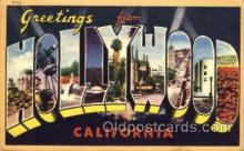 LLT001517 - Greetings From Hollywood, California, USA Large Letter Town Towns Postcard Postcards