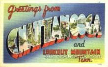 LLT001519 - Greetings From Chattanooga & Lookout Mountain, Tenn. USA Large Letter Town Towns Postcard Postcards