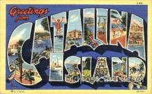 LLT001520 - Greetings From Catalina Island, USA Large Letter Town Towns Postcard Postcards