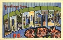 LLT001525 - Greetings From Lancaster, PA, USA Large Letter Town Towns Postcard Postcards