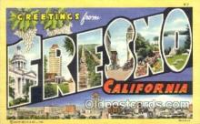 LLT001528 - Greetings From Fresno, California, USA Large Letter Town Towns Postcard Postcards